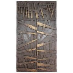 Morris Brose Modern Bronze Model Doors of Detroit Holocaust Memorial