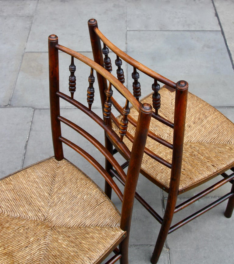 Morris & Co Pair of Arts & Crafts 'Sussex' Chairs, 1864 For Sale 3