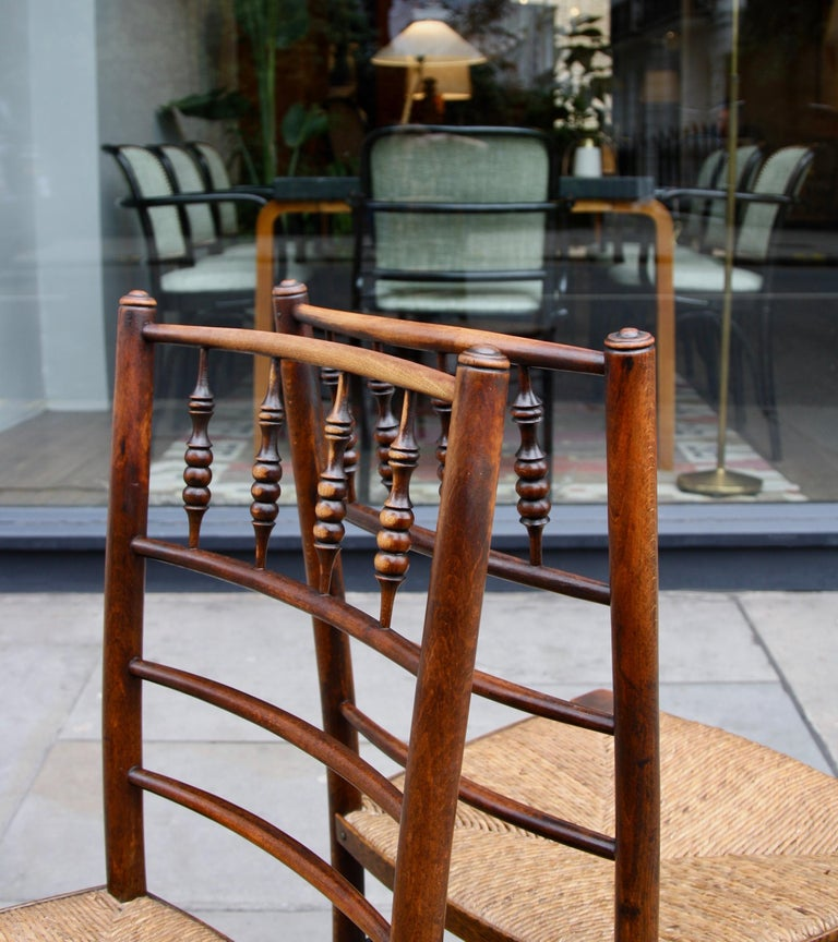 Morris & Co Pair of Arts & Crafts 'Sussex' Chairs, 1864 For Sale 4