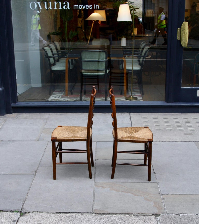 English Morris & Co Pair of Arts & Crafts 'Sussex' Chairs, 1864 For Sale