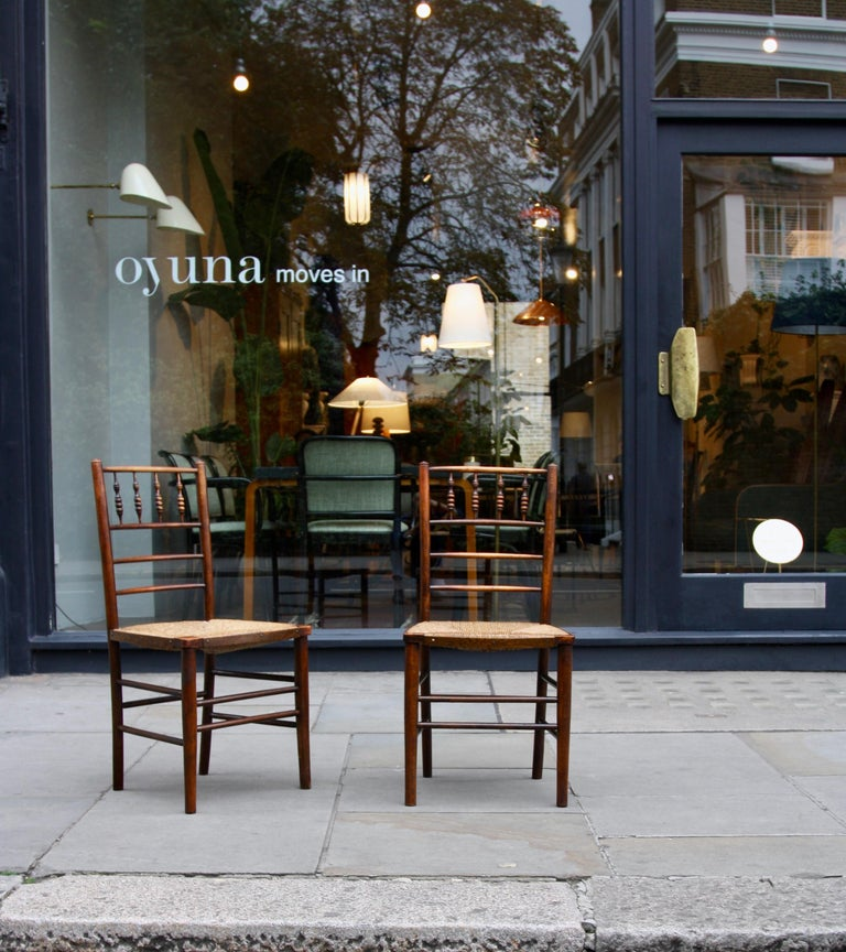 Morris & Co Pair of Arts & Crafts 'Sussex' Chairs, 1864 In Excellent Condition For Sale In London, GB