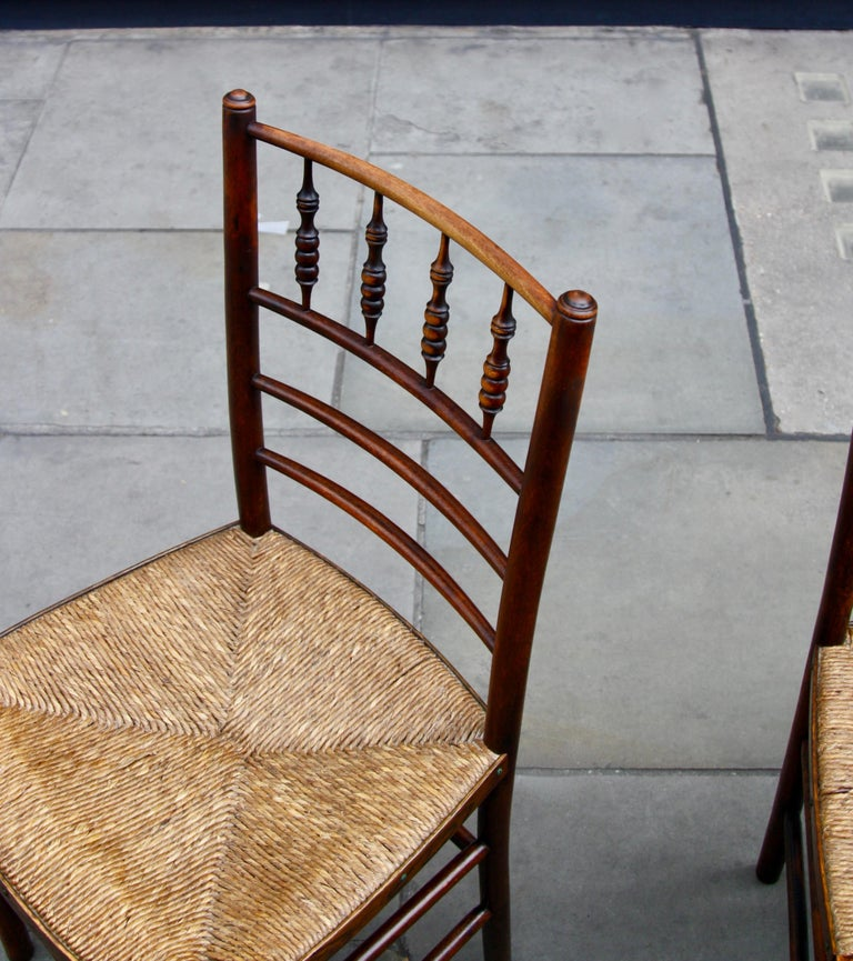 20th Century Morris & Co Pair of Arts & Crafts 'Sussex' Chairs, 1864 For Sale