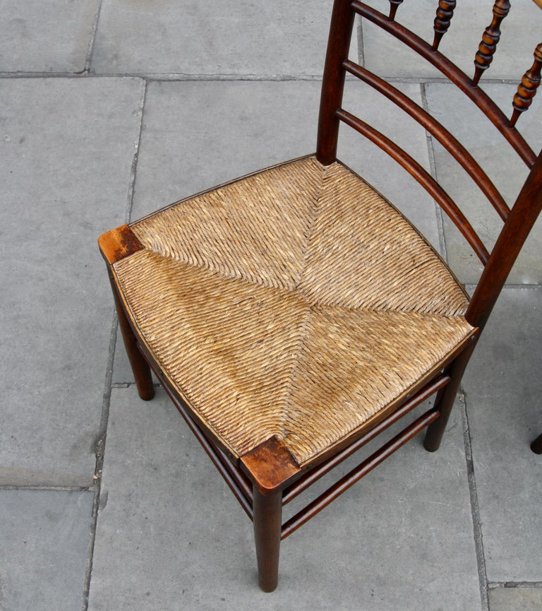Morris & Co Pair of Arts & Crafts 'Sussex' Chairs, 1864 For Sale 2