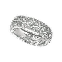 Morris & David 0.34 Carat Natural Diamond Eternity Ring Band G-H SI 14K W Gold