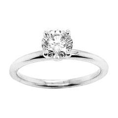 Morris & David 0.75 Ct Natural Round Cut Diamond Engagement Ring