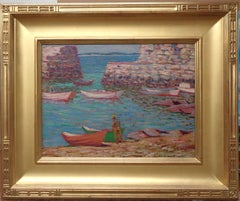 Morris Hall Pancoast Lanes Cove Gloucester Oil Painting New Jersey Rockport Art