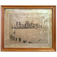 Morris Henry Hobbs Etching of Chicago