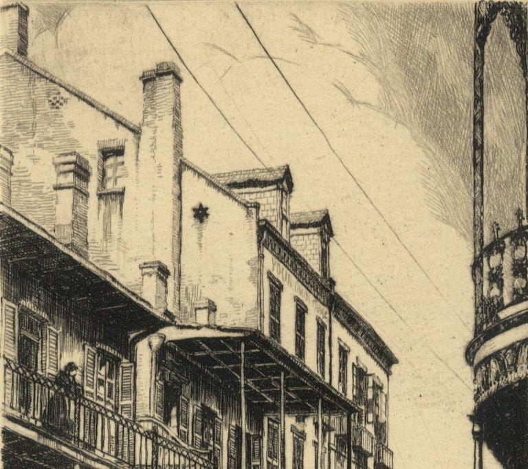 Old Rue Royale (French Quarter in New Orleans) - Print by Morris Henry Hobbs