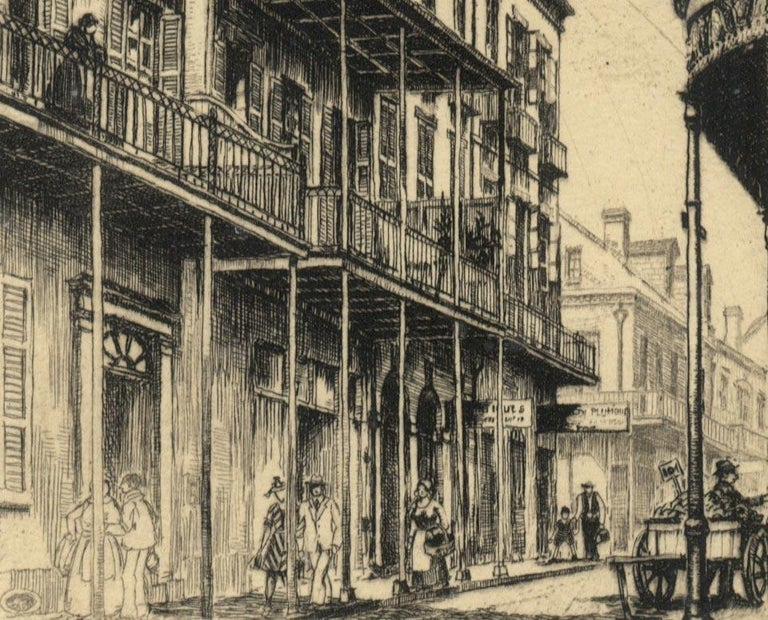 Old Rue Royale (French Quarter in New Orleans) - American Modern Print by Morris Henry Hobbs