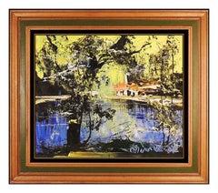 Morris Katz Rare Original Oil Painting On Board Landscape Signed Framed Artwork