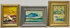 Morris Katz Set of Three of Original Seascape Oil Paintings C.2001