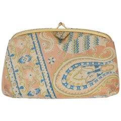 Morris Moskowitz Paisley Leather Clutch