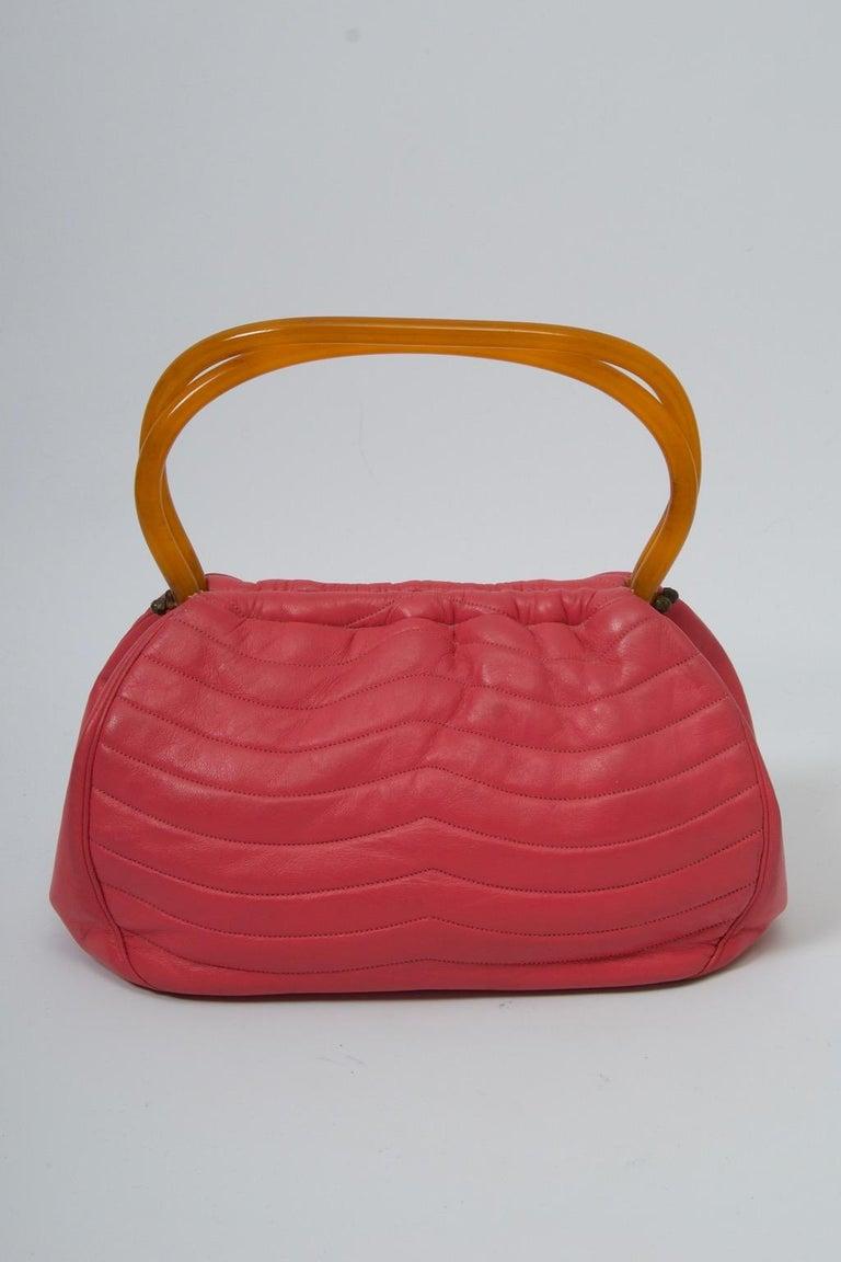 Morris Moskowitz Rose Pink 1960s Bag For Sale 7