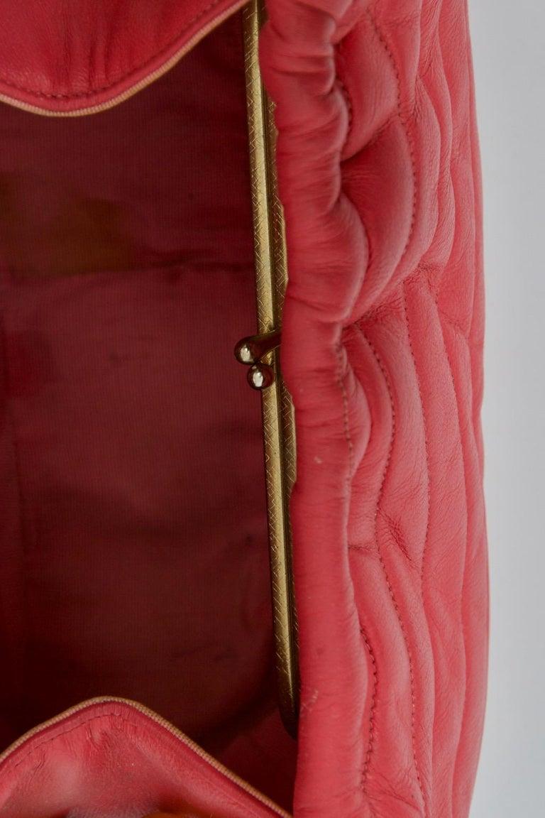 Morris Moskowitz Rose Pink 1960s Bag For Sale 2