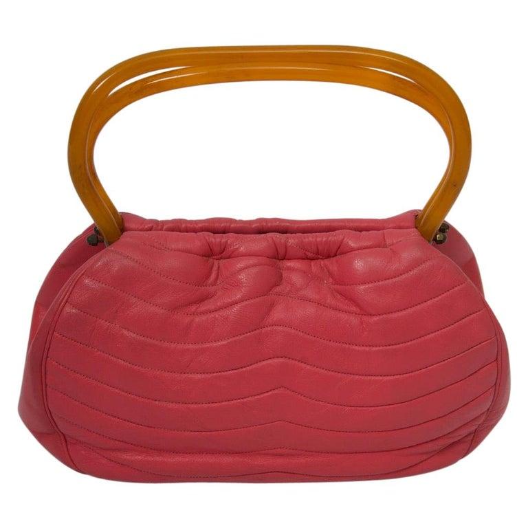 Morris Moskowitz Rose Pink 1960s Bag For Sale