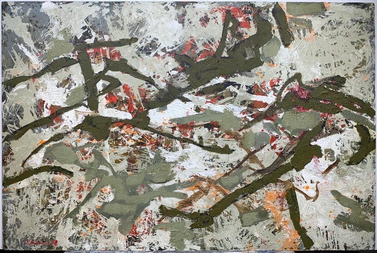 Morris Shulman Abstract Painting - Untitled Abstract Landscape