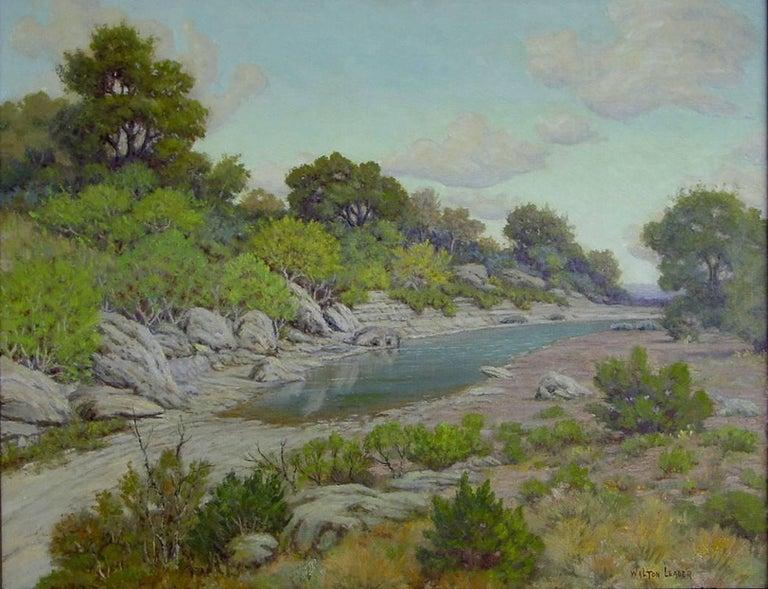 "Morris Walton Leader Landscape Painting - ""Onion Creek"" Austin Texas"