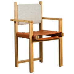Oak and Leather Morro Dining Chair by Lawson-Fenning