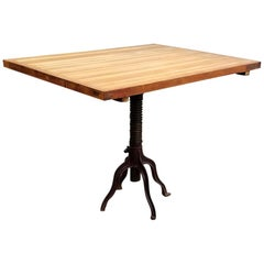 Morse Antique Drafting Table Industrial Table