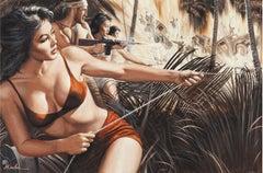 G. I. Tiger-Bandit of Saipan, Combat with Bikini Women and Explosions