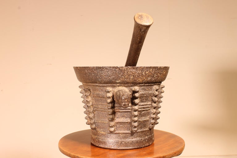 French Mortar and Pilar End 15th Century Gothic Period For Sale