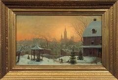 Town Scene in Winter