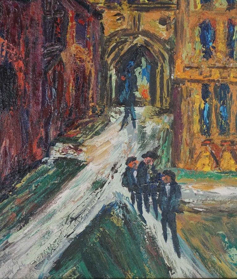 Mid Century Paris -- The Courtyard - Impressionist Painting by Morton Larsen