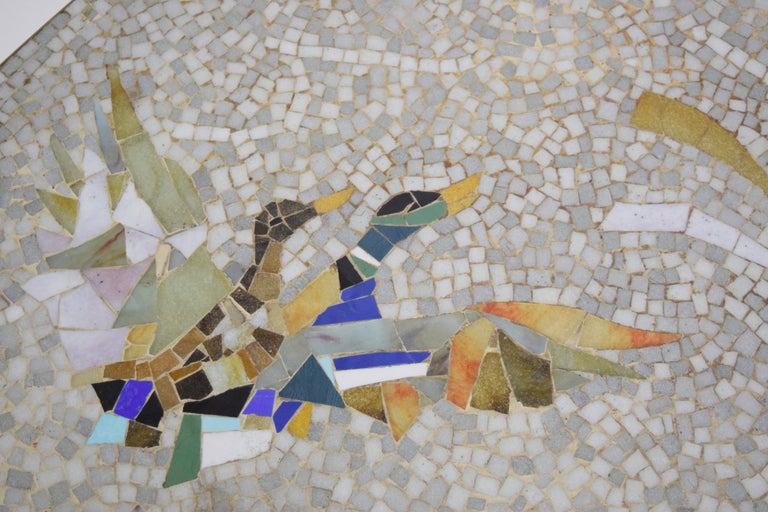 Glass Mosaic and Brass Coffee Table by Berthold Müller-Oerlinghausen, Germany 1950s For Sale