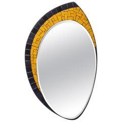Mosaic and Brass Mirror, circa 1960