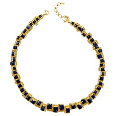 Mosaic Art Deco 47.61 Carat Sapphire Statement Coomi Necklace