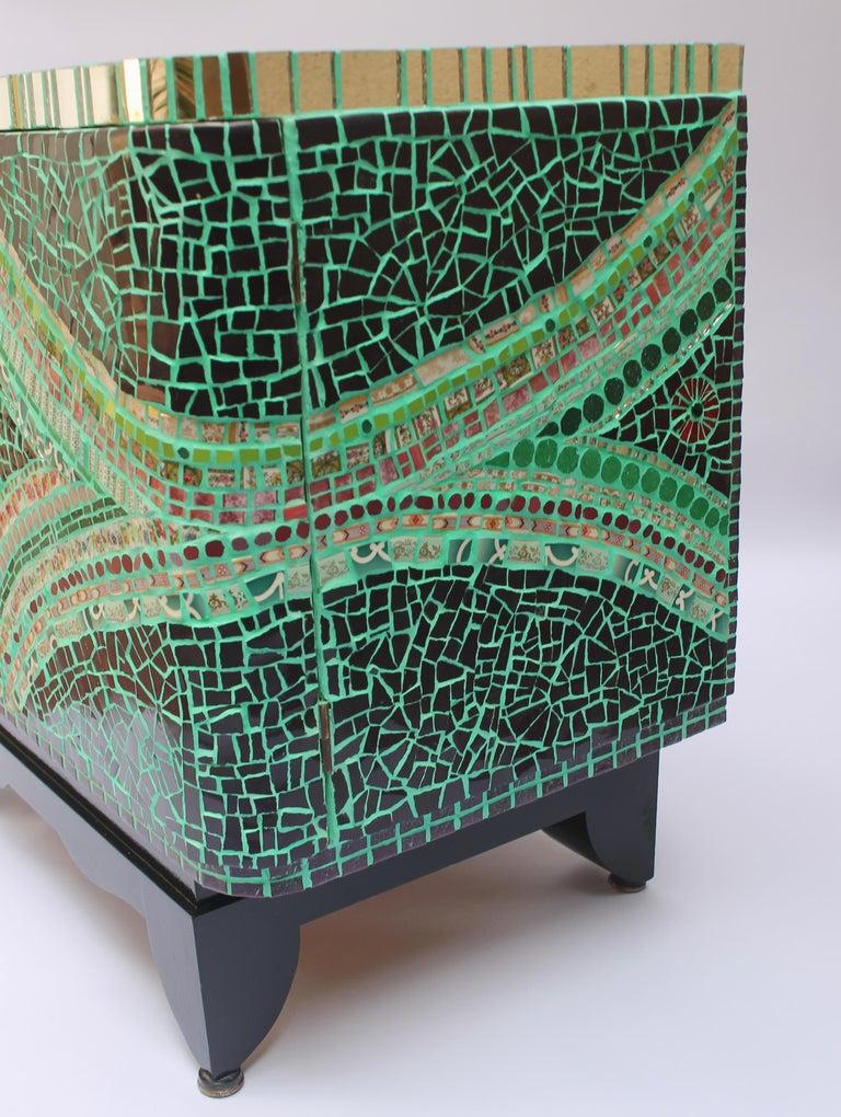Mosaic Art Deco Cabinet, France For Sale 1
