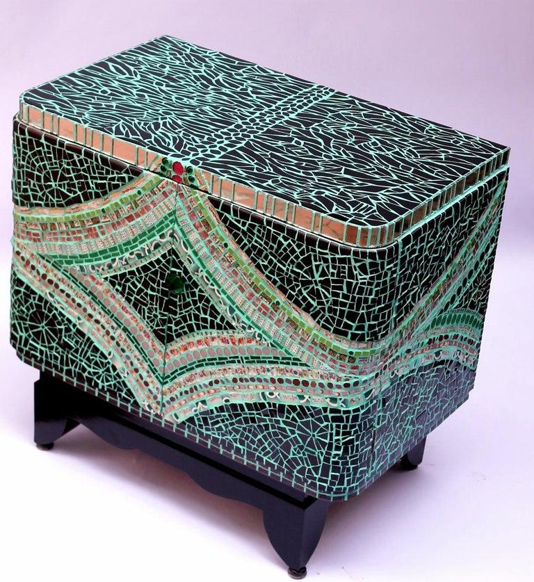 Mosaic Art Deco Cabinet, France For Sale 2