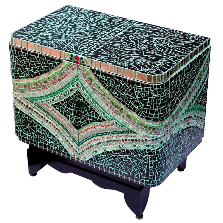 Mosaic Art Deco Style Cabinet, France For Sale