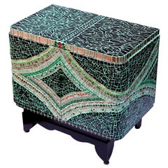 Mosaic Art Deco Cabinet, France