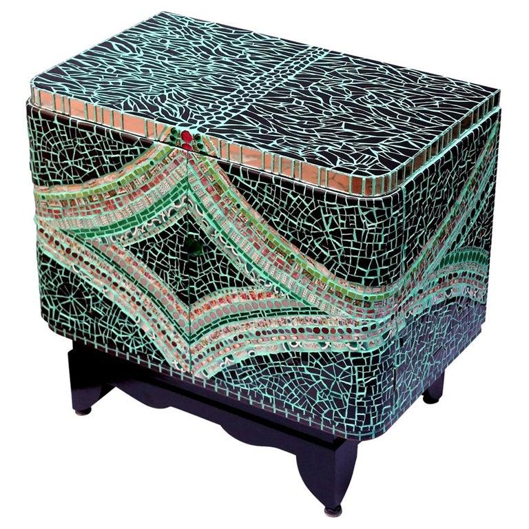Mosaic Art Deco Cabinet, France For Sale