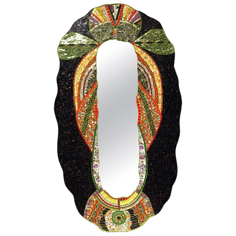 Mosaic Art Deco Style Mirror, France For Sale