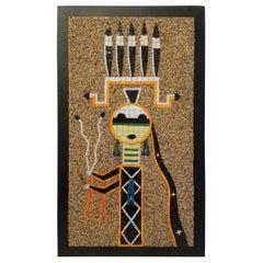 California Studio Mosaic Art Work Navajo Sand Painting Deity Father Sky, 1960s