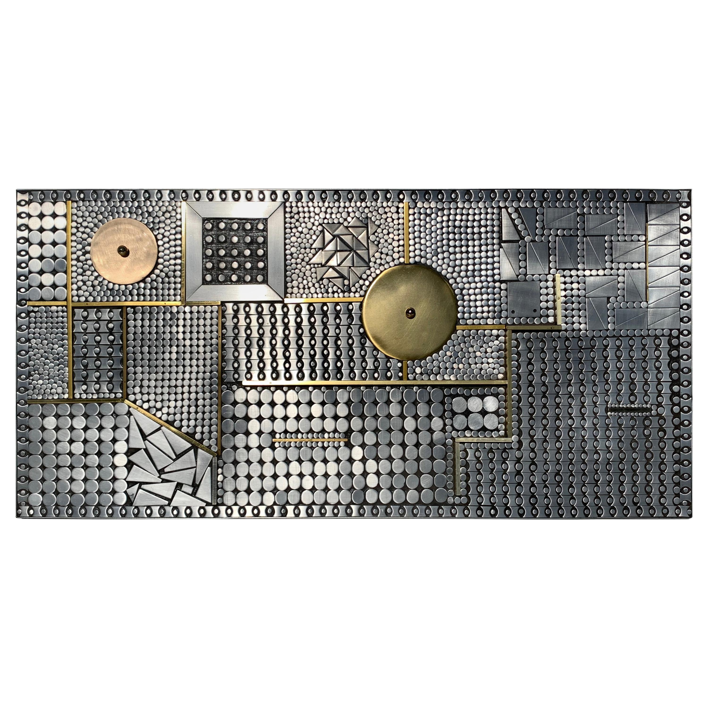 Mosaic Brutalist Sculpture Style of Paul Evans