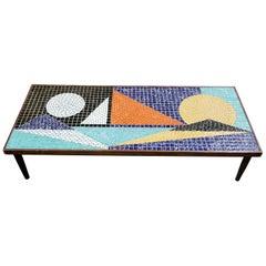 Mosaic Ceramic Tile Coffee Table