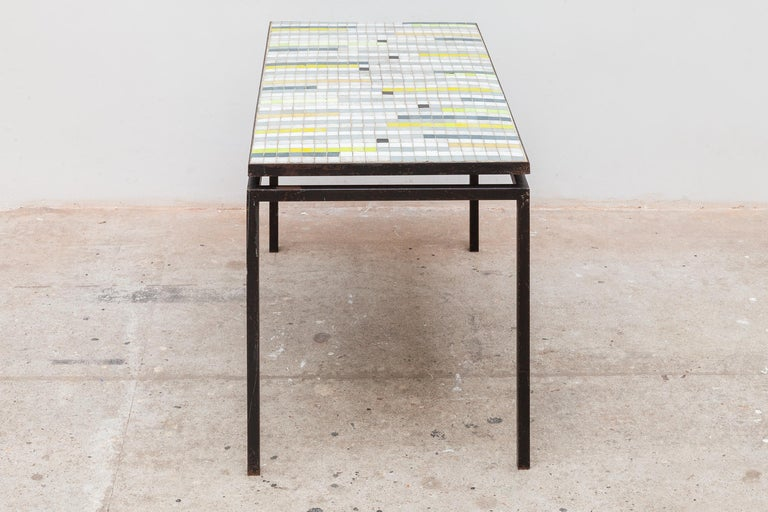 Mid-Century Modern Mosaic Coffee Table with Floating Top, 1950s For Sale