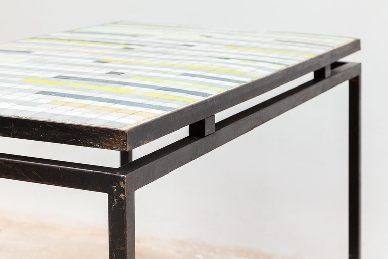 Mosaic Coffee Table with Floating Top, 1950s In Good Condition For Sale In Antwerp, BE