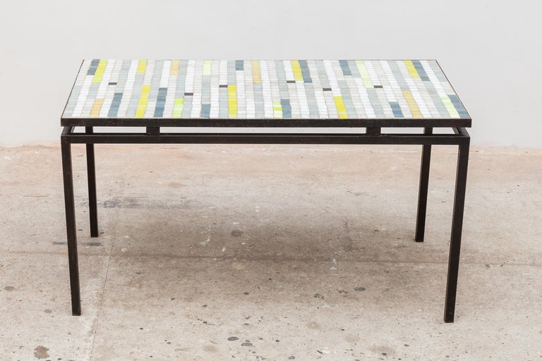 Mid-20th Century Mosaic Coffee Table with Floating Top, 1950s For Sale