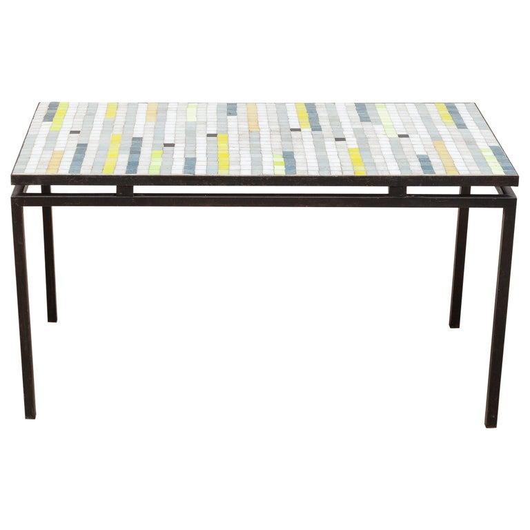 Mosaic Coffee Table with Floating Top, 1950s For Sale