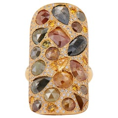 """Neil Lane Couture Fancy Color Diamond, 18K Yellow Gold """"Mosaic"""" Ring"""