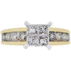 Mosaic Diamond Engagement Ring