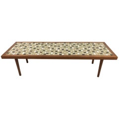 Mosaic Tile and Walnut Coffee Table by Jane and Gordon Martz