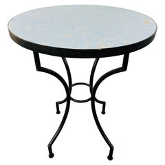 Mosaic Tile Bistro Style Round Table