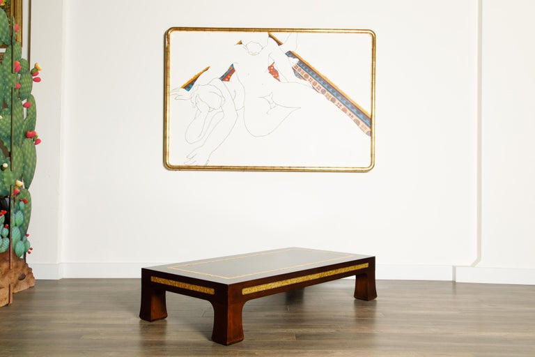 Mosaic Tile Coffee Table by Edward Wormley for Dunbar, circa 1950s, Signed For Sale 3