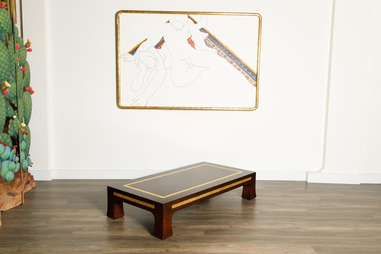 Mosaic Tile Coffee Table by Edward Wormley for Dunbar, circa 1950s, Signed For Sale 4