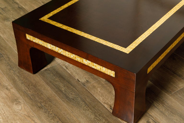Mosaic Tile Coffee Table by Edward Wormley for Dunbar, circa 1950s, Signed For Sale 6